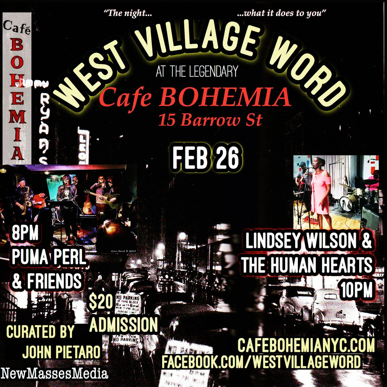 West village word feb 2020 poster