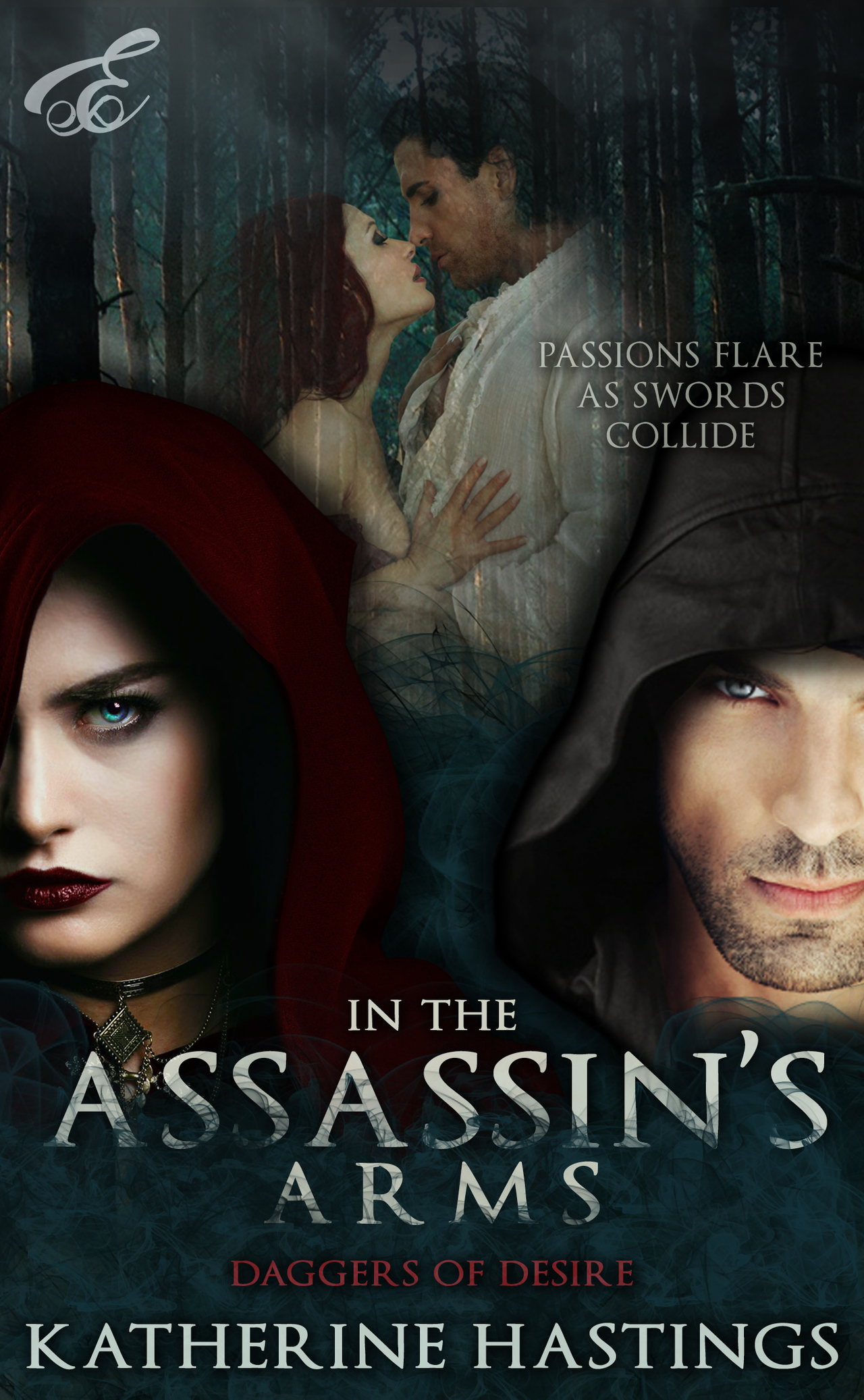 In the assasin's arms romance novel cover
