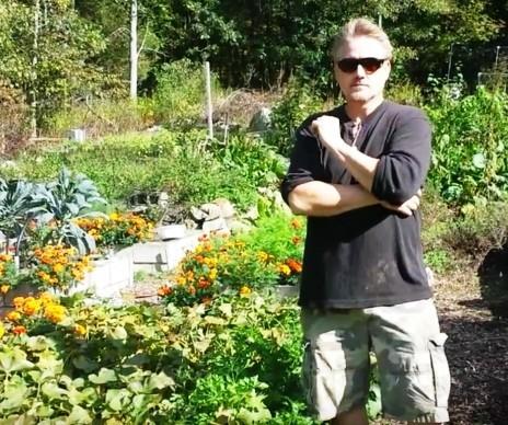 Andy in garden 2015