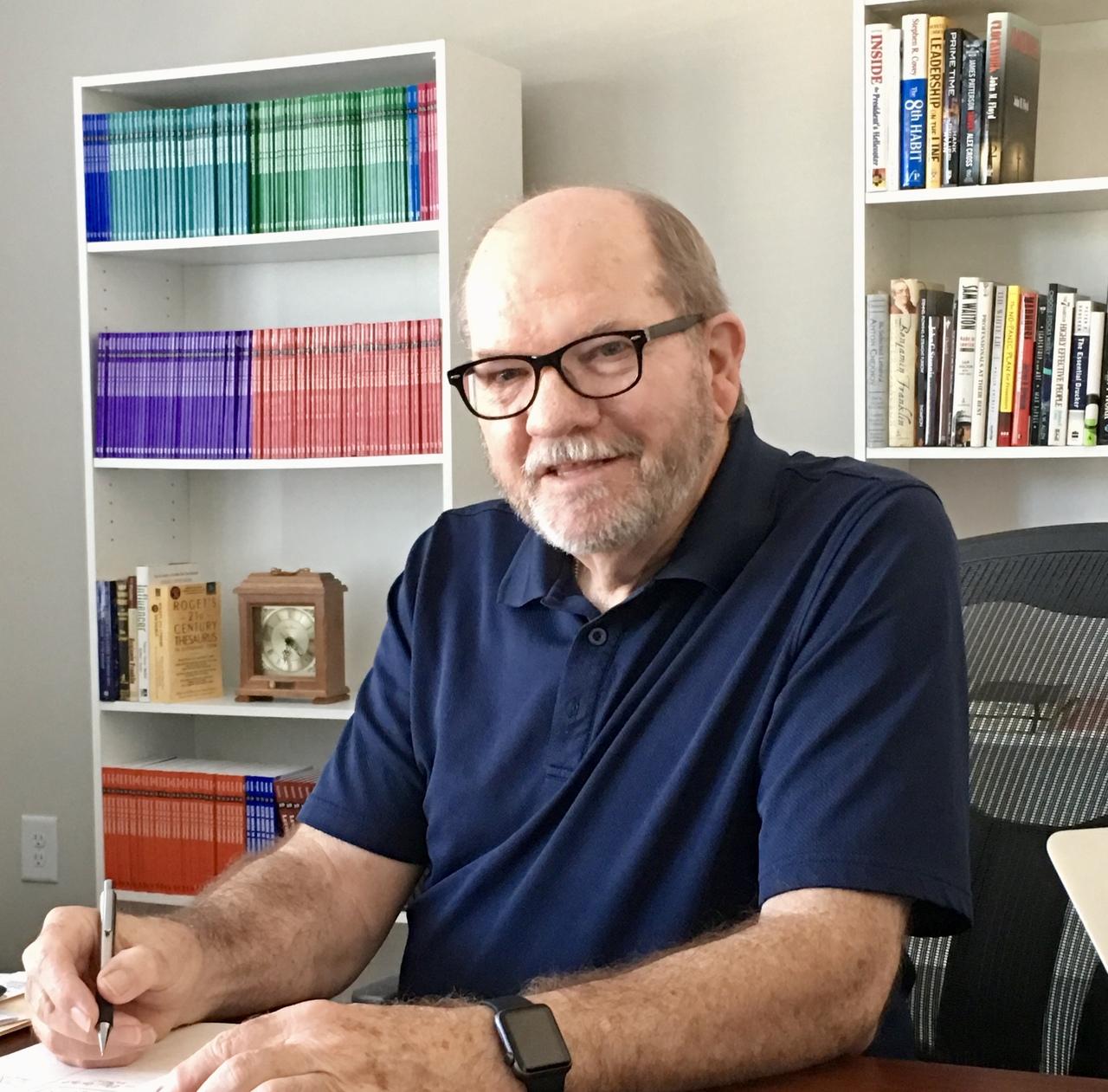 Phil hardwick at desk sep 2019