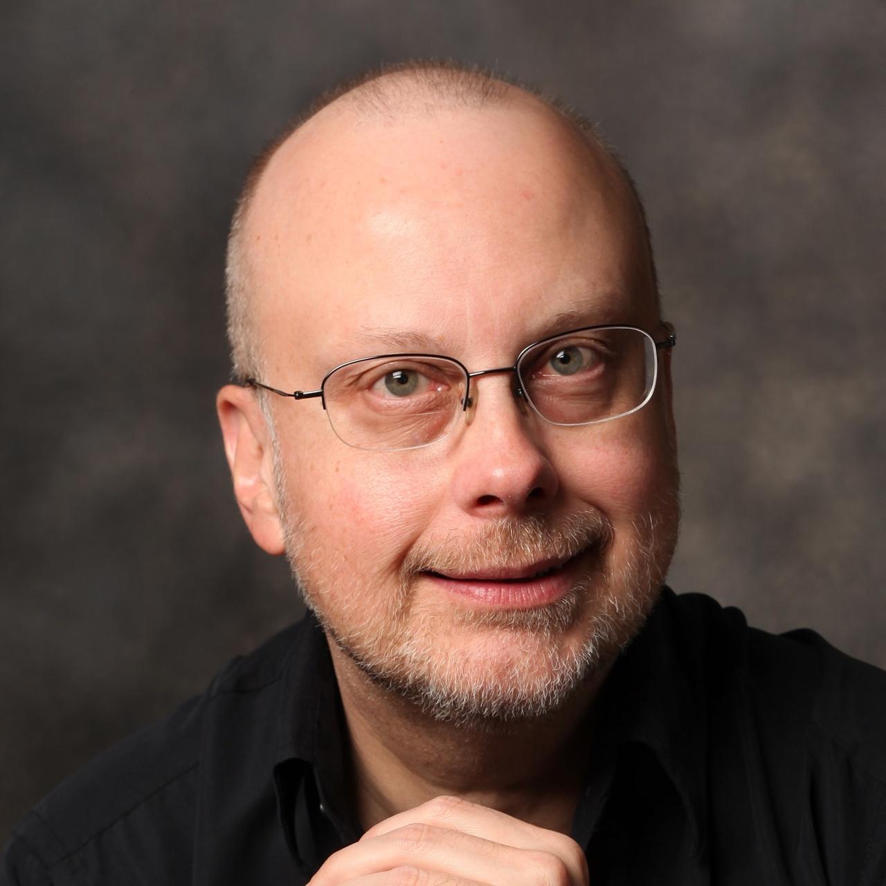 Robert j sawyer author photo by bernard clark color for avatars