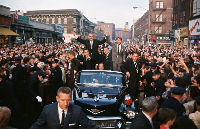 October 15, 1964: Lyndon Johnson and Bobby Kennedy visit Flatbush.