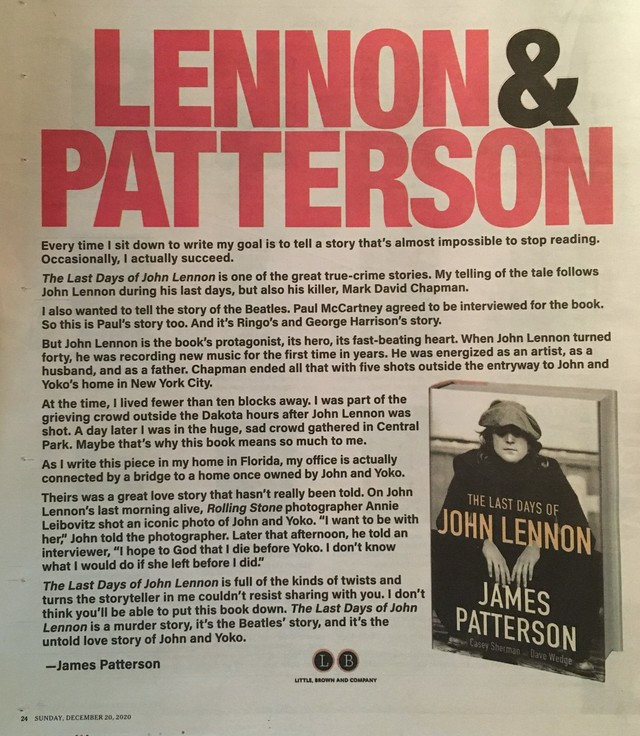 John Lennon, James Patterson, and the Hired Elves.