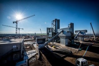 This is an image of the Hinkley Point Nuclear plant under construction.