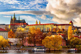 Prague in the fall.