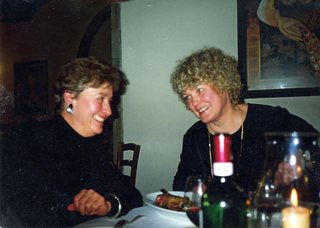 Helen Medakovich Sarchielli and Pat McNees in Loro Ciuffenna, Italy, 1999. Also there, Martha Masinton and Jean Eggenschwiler. Not so very long after this, Helen died.