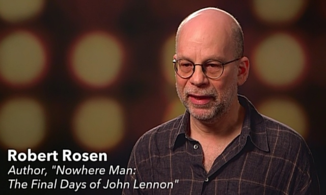 Robert Rosen on the John Lennon episode of Hollywood Scandals on Reelz.