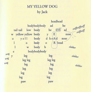 A boy named Jack doesn't think poems are for boys. But, after his hearing his teacher read poetry all year, he's inspired to write about his dog. And keep writing. Click on the image for a list of Creech's poetry books.