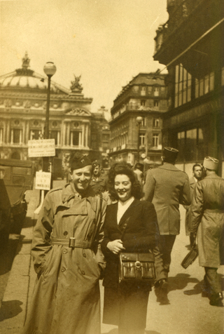 My father celebrating in Paris, September 1944.
