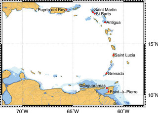 Chart of eastern Carribbean