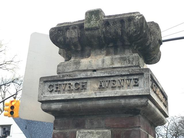 The corner of Church Avenue and Marlboro Road, in Flatbush.