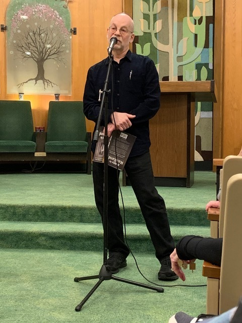 Robert Rosen discusses Bobby in Naziland at Temple Sinai, in Pennsylvania